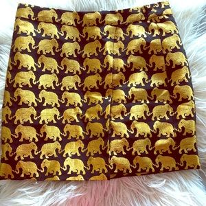 J.Crew Elephant Print Skirt